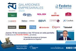 Conferencia del periodista Vicente Vallés,  «La libertad de prensa en tiempos de pandemia»