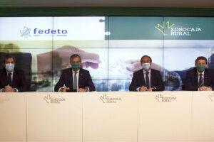 Eurocaja Rural respalda a Fedeto con el objetivo de combatir el impacto económico de la COVID-19