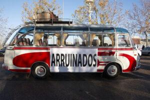 Manifestación del transporte de viajeros