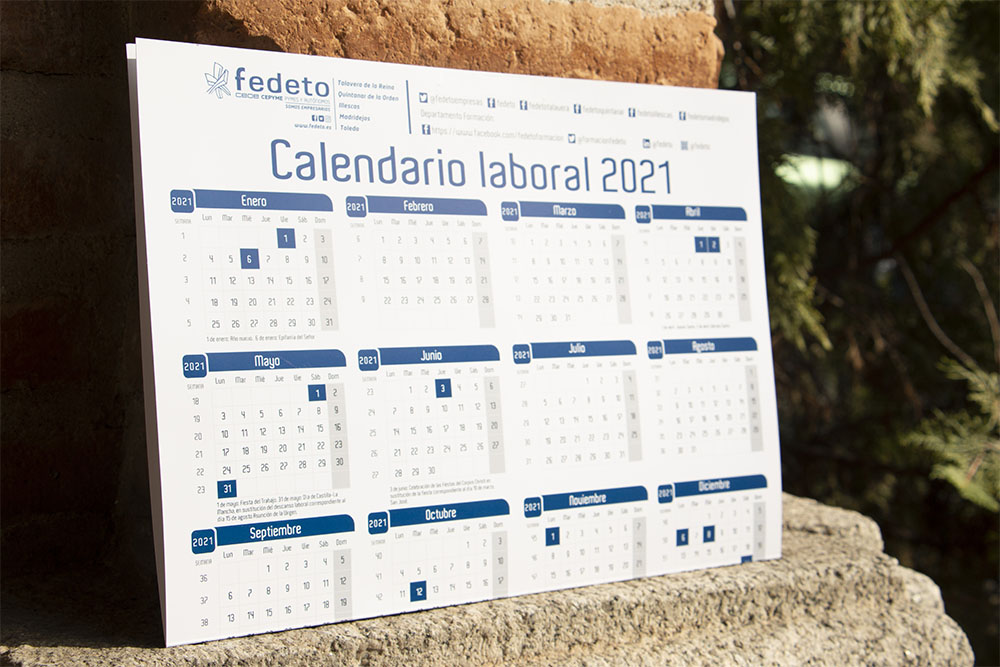 Calendario laboral 2021 autocompletable